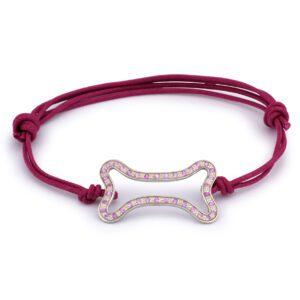 Bracciale oro bianco e rubini rosa Ossino Made in Italy