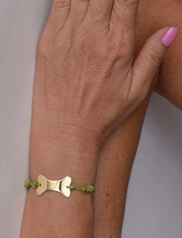 Eighties bracciale in oro giallo 9k personalizzabile con incisione gratuita